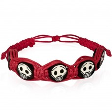 Bracelet with skulls macramé cord. Various colors