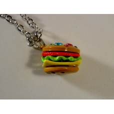 Lauren Spencer chain necklace with hamburger