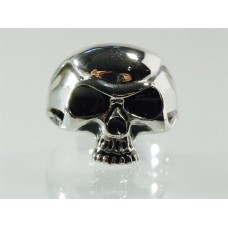 Steel ring with skull