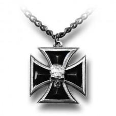 Alchemy Anhänger: Schwarz Ritterkreuz