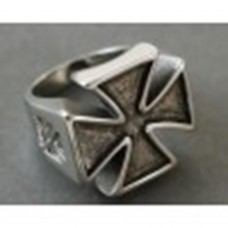 Steel ring: Gothic or Templar crosses