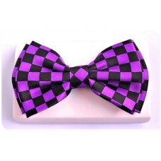 Papillon or bow tie: ska, stage or dandy. Purple and black