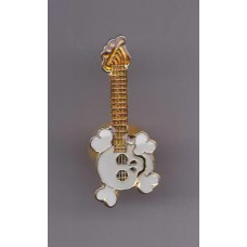 Pin of Guitar with skull, skull guitar