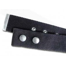 Alchemy military style belt in black cotton for buckle