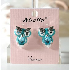 Earrings with little owls, owl. Various colors