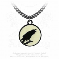 Alchemy Necklace: The crow and the moon