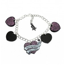 Silver plated chain bracelet: For Rockabilly fans