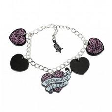 Silver plated chain bracelet: For Rockabilly fans