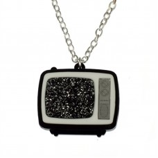 Silver plated chain necklace: Sparkling TV