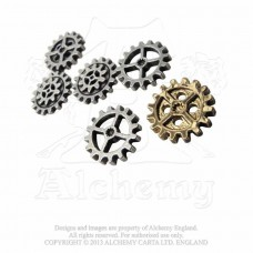 Alchemy gearwheel steampunk buttons (6)